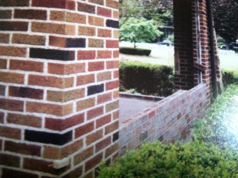 Rebuild of porch wall.